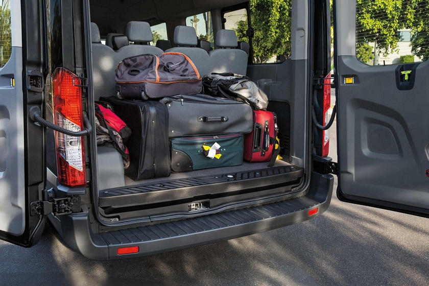 storage space in a passenger van