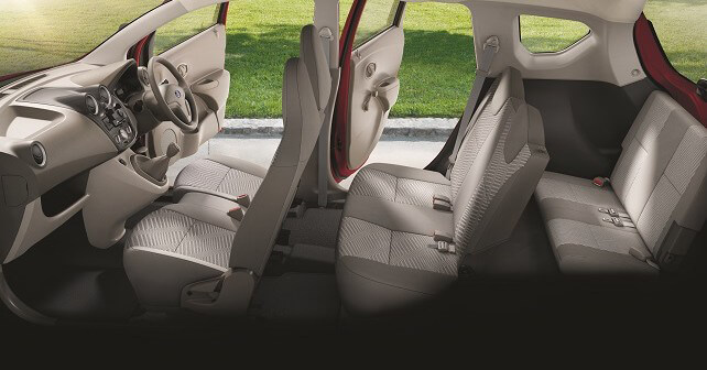 picture showing seating capacity in van